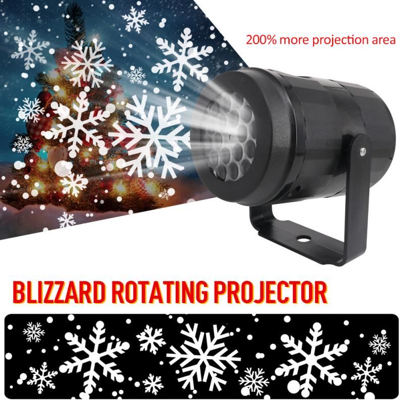 Christmas Snowflake Laser Snowfall Projection Lights