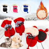 4Pcs Pet Winter Warm Shoes