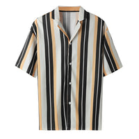 Men Stripe Buttons Casual Shirt