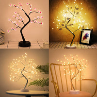 LED DIY Artificial Light Tree Bonsai Lamp