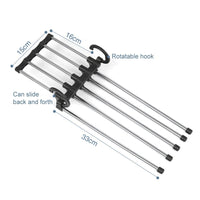 5 In 1 Stainless Steel Pants Rack