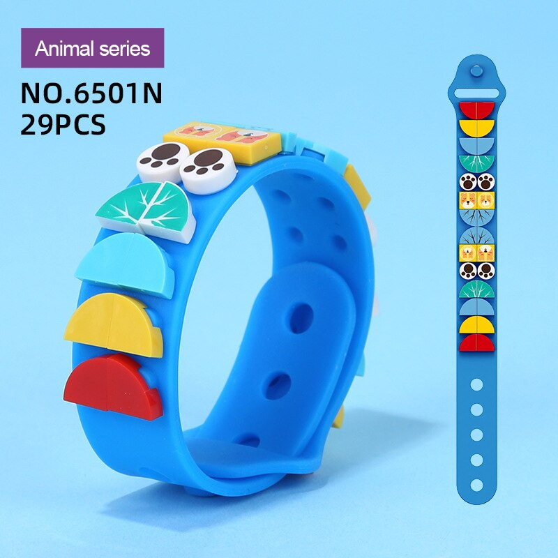 Silicone Bracelet Cartoon Construction Toys For Christmas Gift