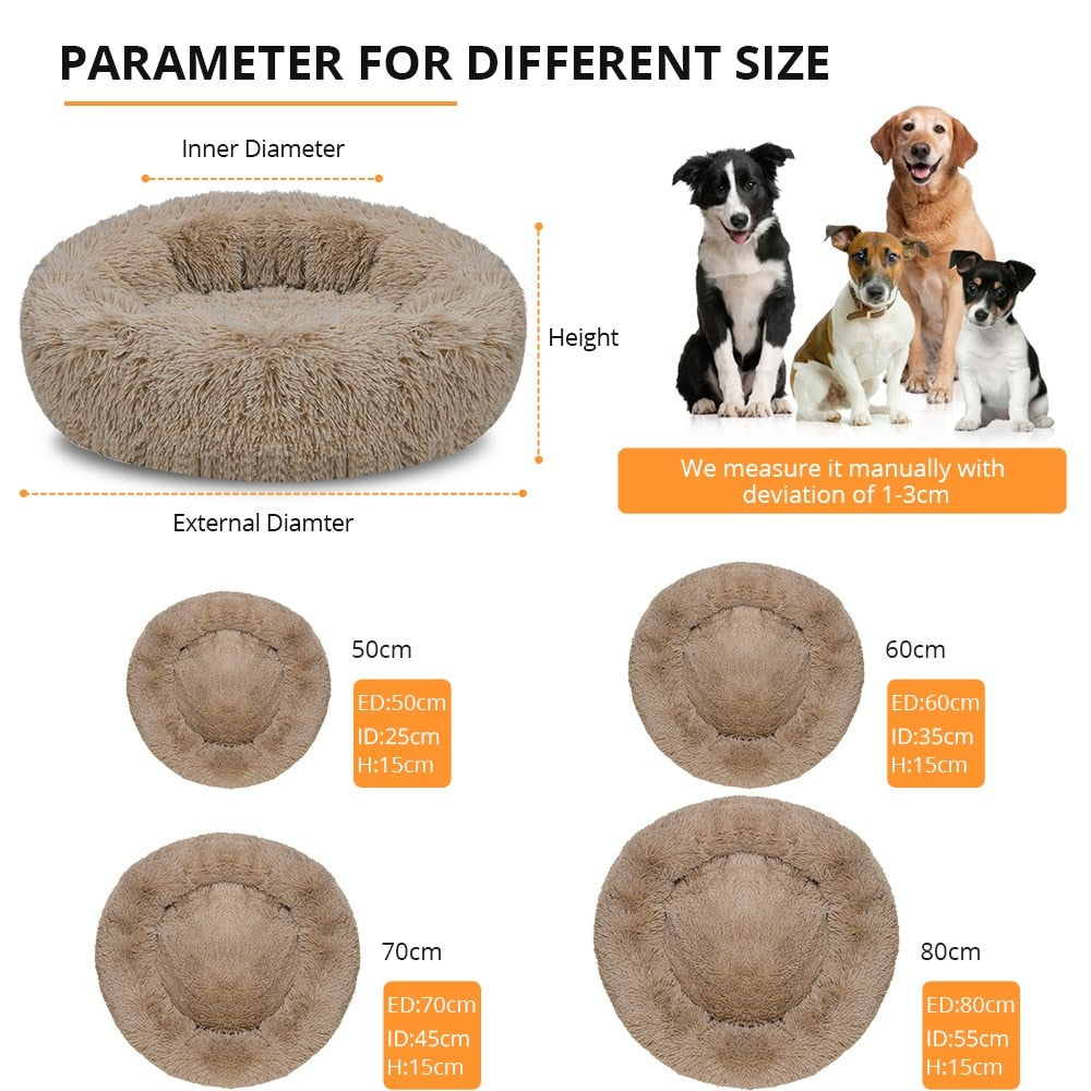 Round Fluffy Pet Bed