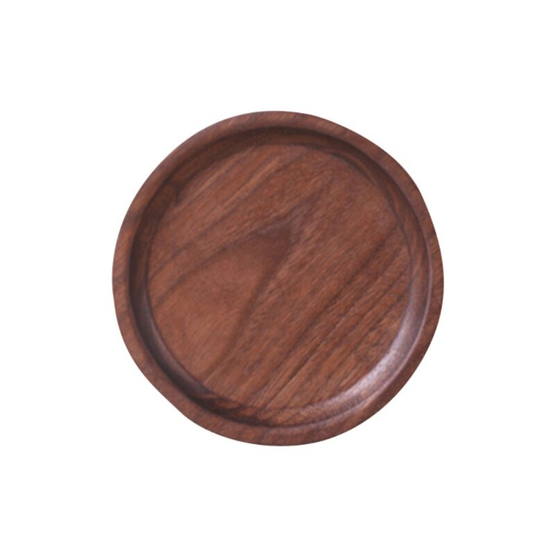 Storage Plate Wood Drink Coasters Tray