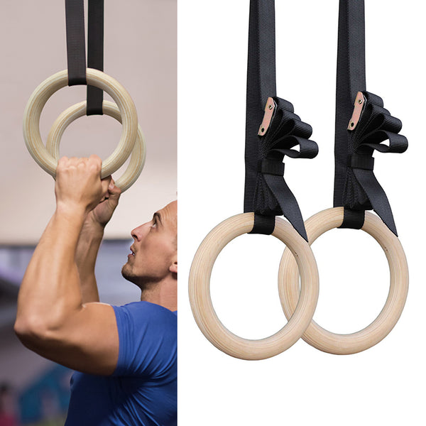 1 Pair Birch Wood Gymnastic Rings