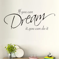 Motivational Quote Wall Sticker