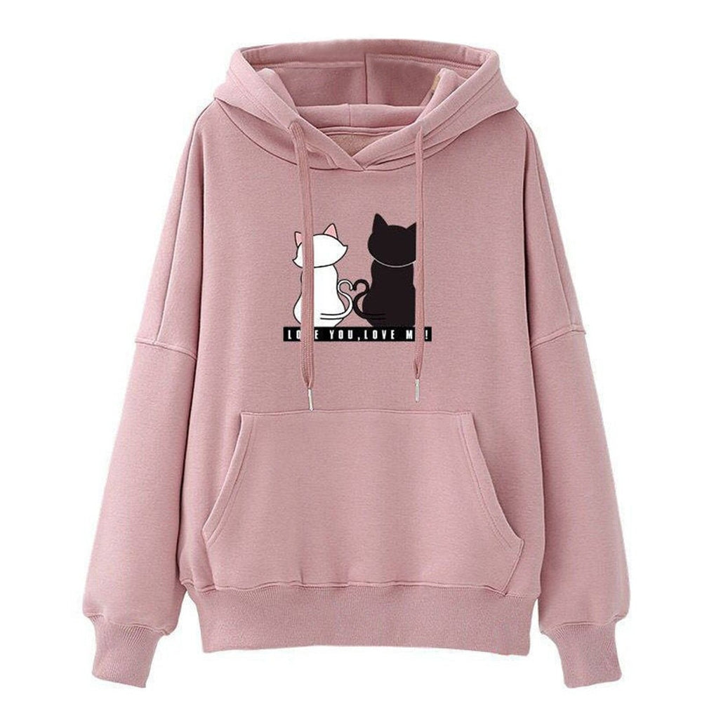 Casual Sweatshirt Cat Print