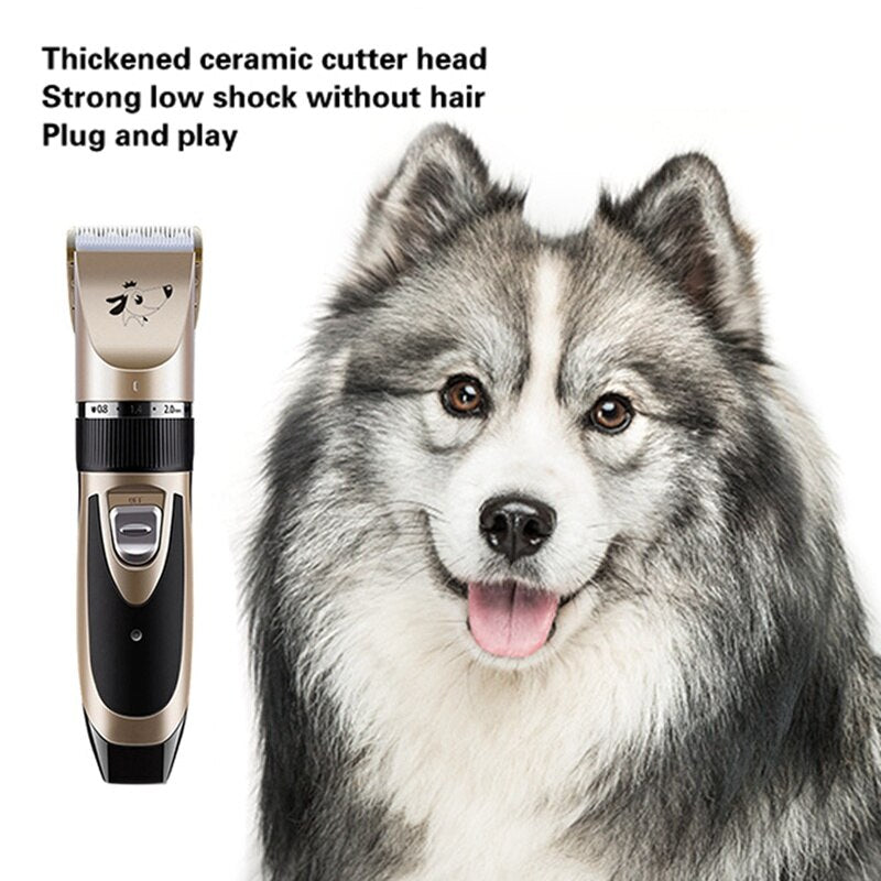 Rechargeable Low-Noise Pet Hair Trimmer