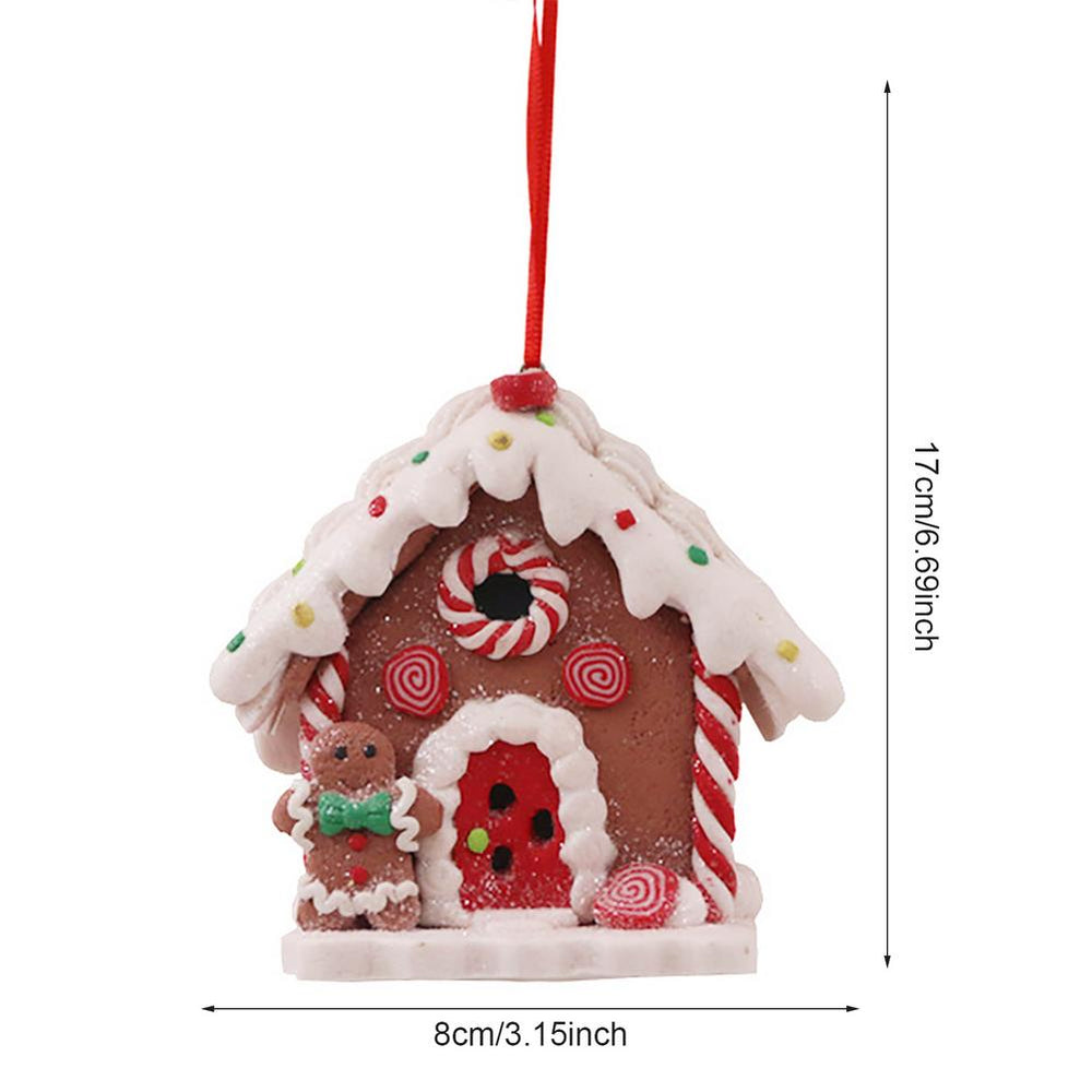 HChristmas Hanging Illuminated Gingerbread Man House Light