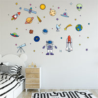 Outer Space Robot Wall Sticker