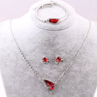 Butterfly Crystal Jewelry Set