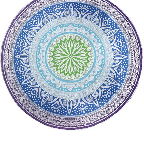 Boho Beach Round Towel