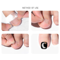 10 pcs Nail Transparent Double Sided Sticker