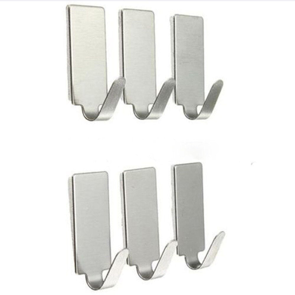 6PCS Stainless Steel Holder Hook Hanger