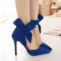 Milanese Bow Pumps - High Heels Shoes