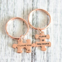 Couples Puzzle Keychain