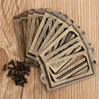 12 Pcs Brass Label Holder