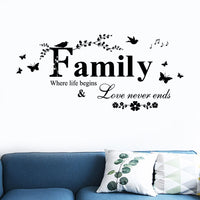 Family Art Vinyl Wall Sticker