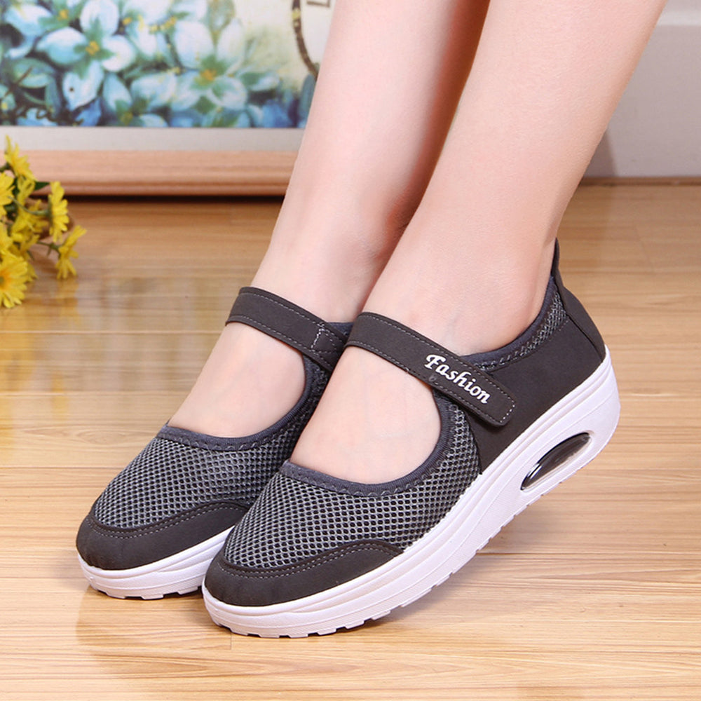 Mesh Slip On Flat Shoes