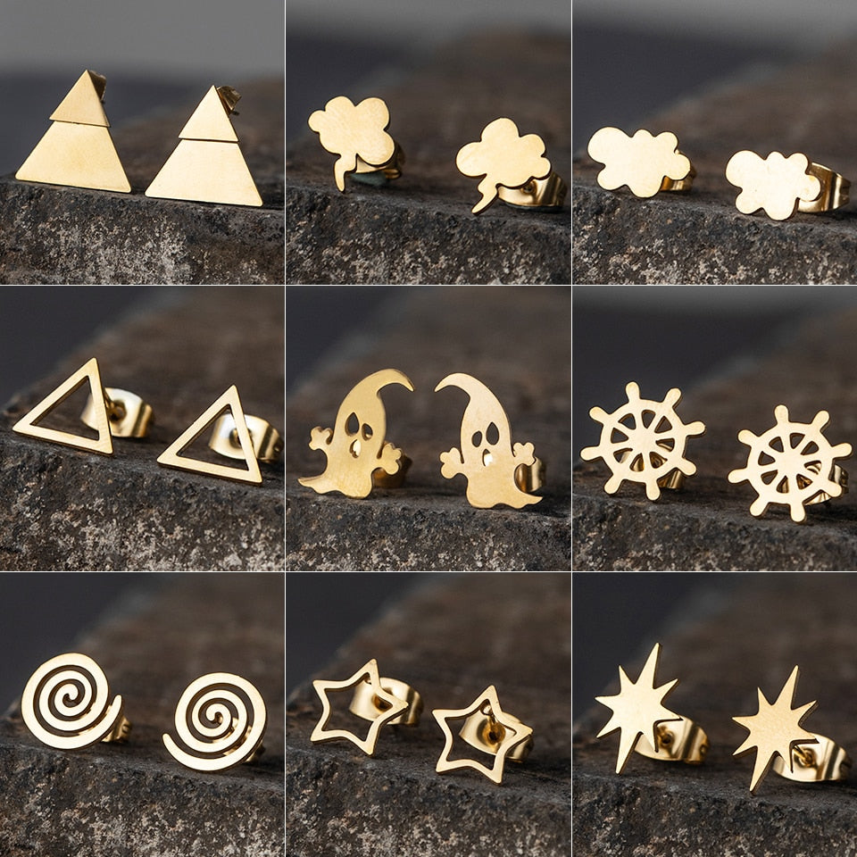 Minimalist Stud Earrings