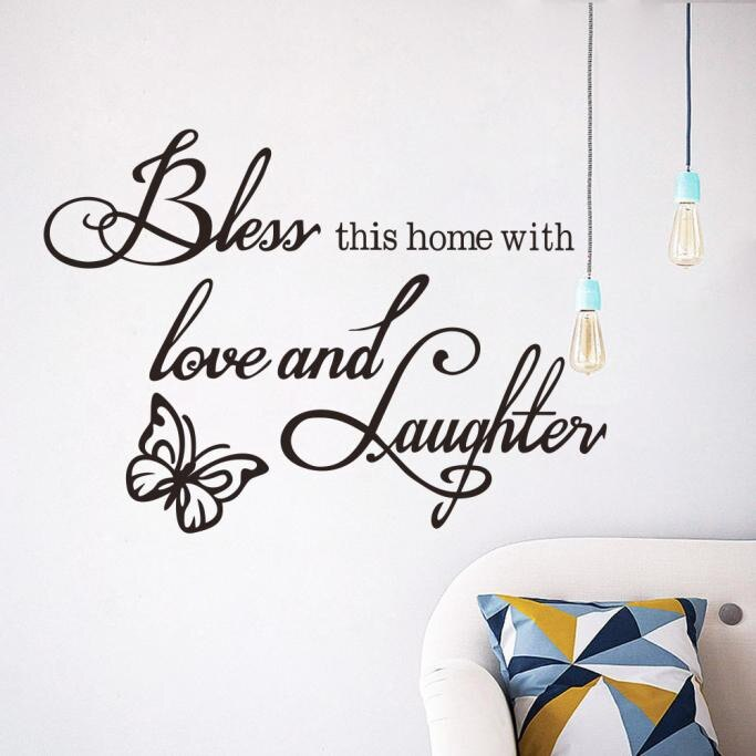 Love and Laughter Wall Sticker