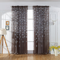Christmas Snowflake Curtain Tulle Window