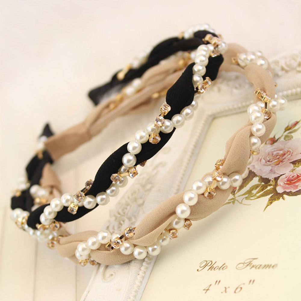 Pearl Braided Headband
