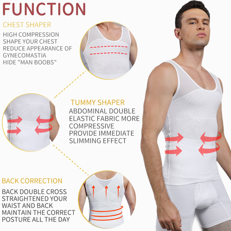 Men's Body Shaper Waist Fitness Tops