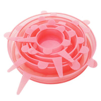6pcs Universal Silicone Stretchable Lids