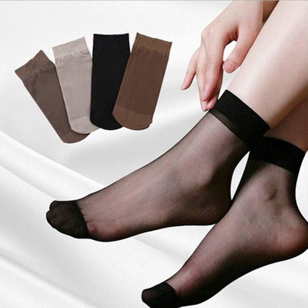 10 pairs Women Ultra Thin Socks