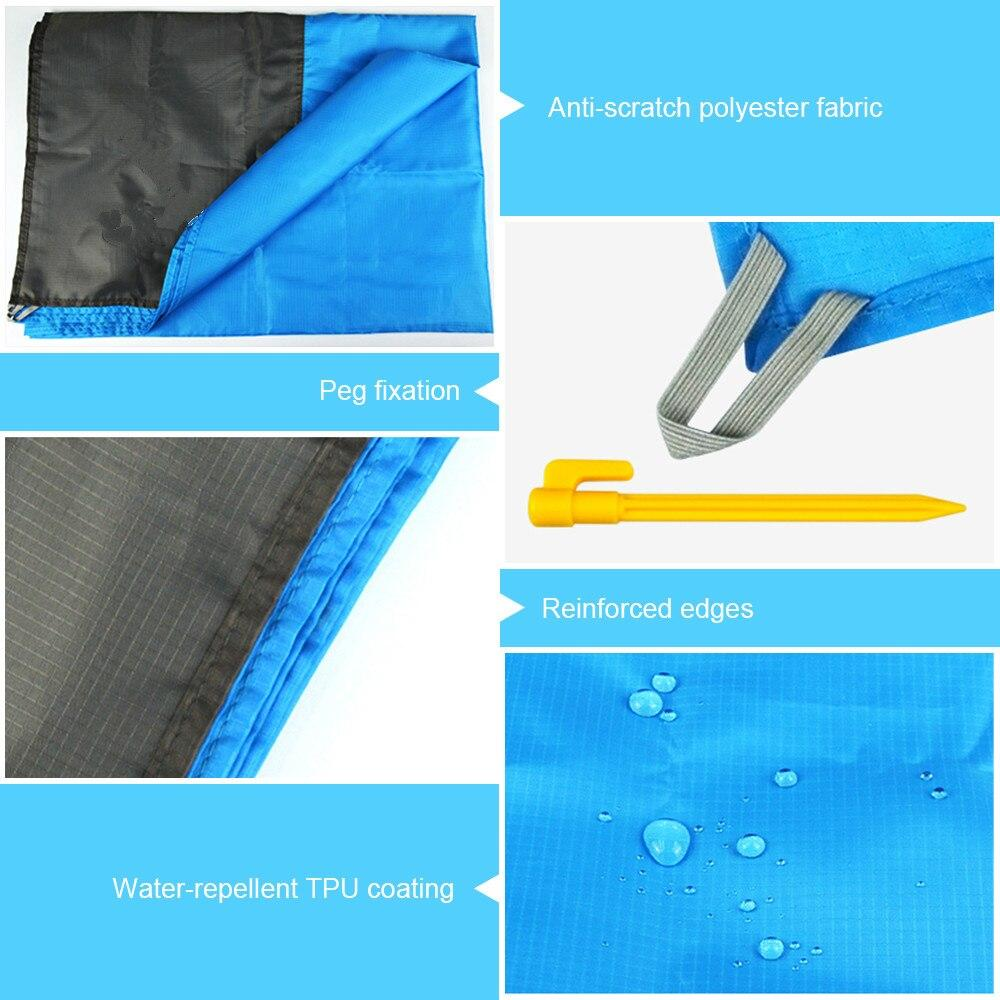 Portable waterproof beach mat