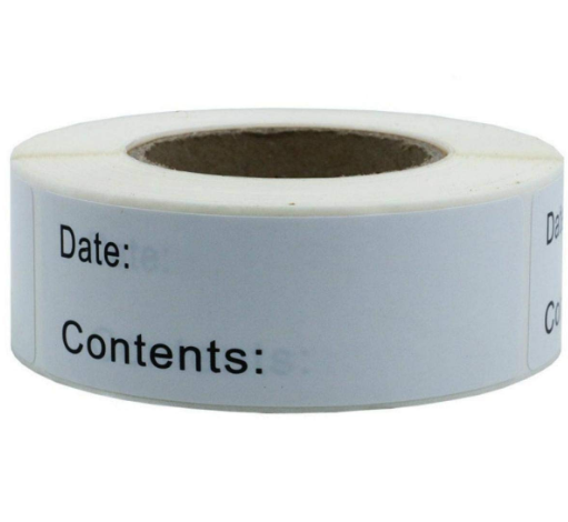 Removable Adhesive Date Tag Label