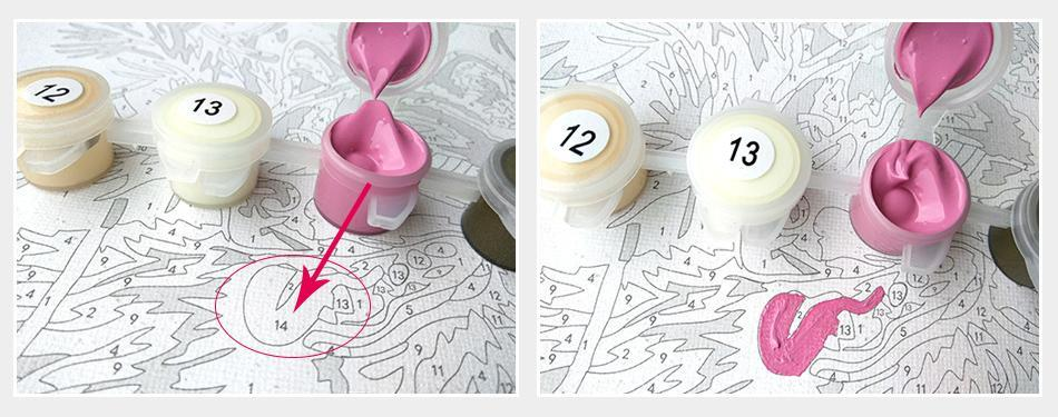 DIY Paint by Numbers - Lakeside