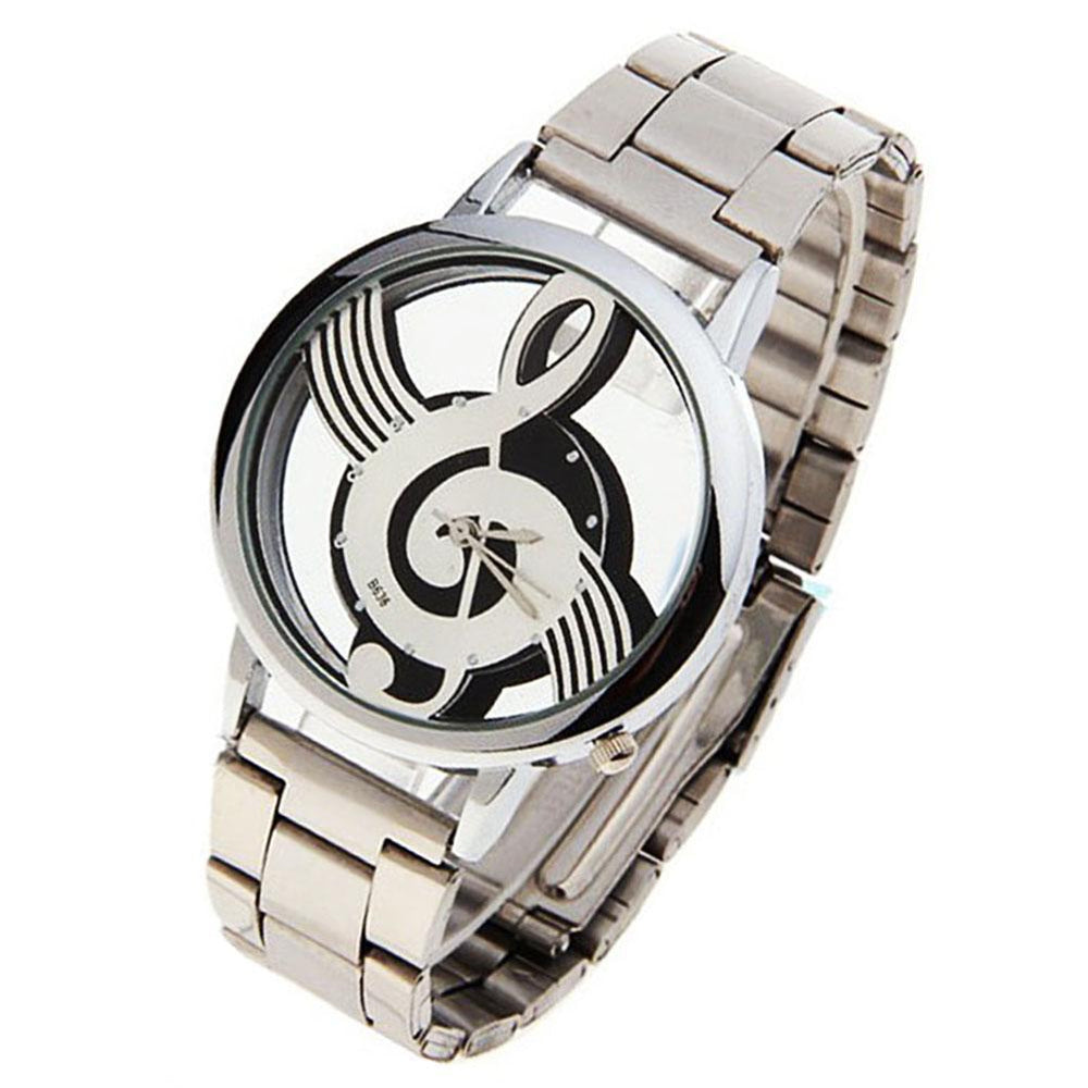 Stainless Steel Musical Note Watch