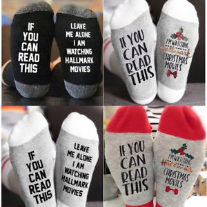 Hallmark Christmas Movies Socks
