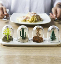 4Pcs Salt & Pepper Shakers Ornament Domes