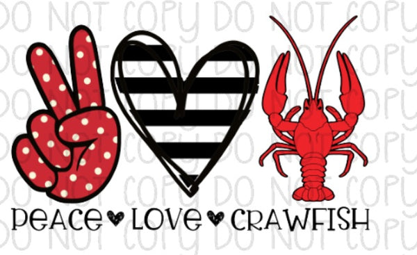 558+ Peace Love Crawfish Svg Zip File