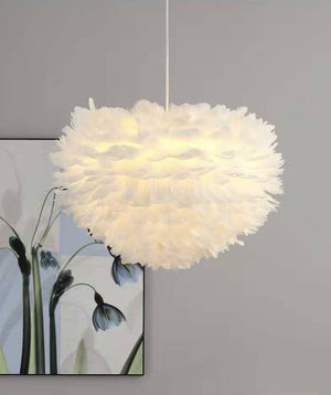suspension lampe plumes Led - kidyhome