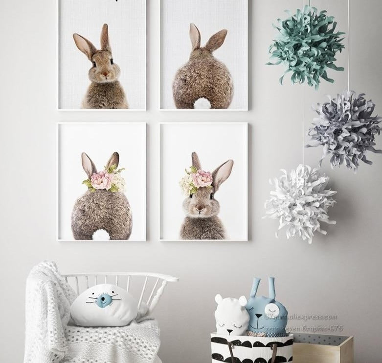 affiche adorable lapin - kidyhome