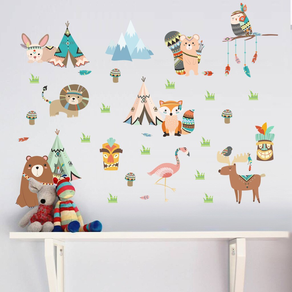 stickers animaux boho - kidyhome
