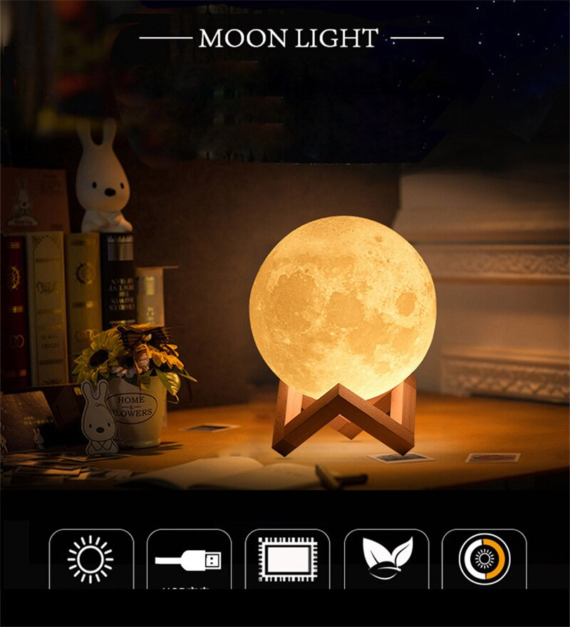 veilleuse nomade lune rechargeable - kidyhome