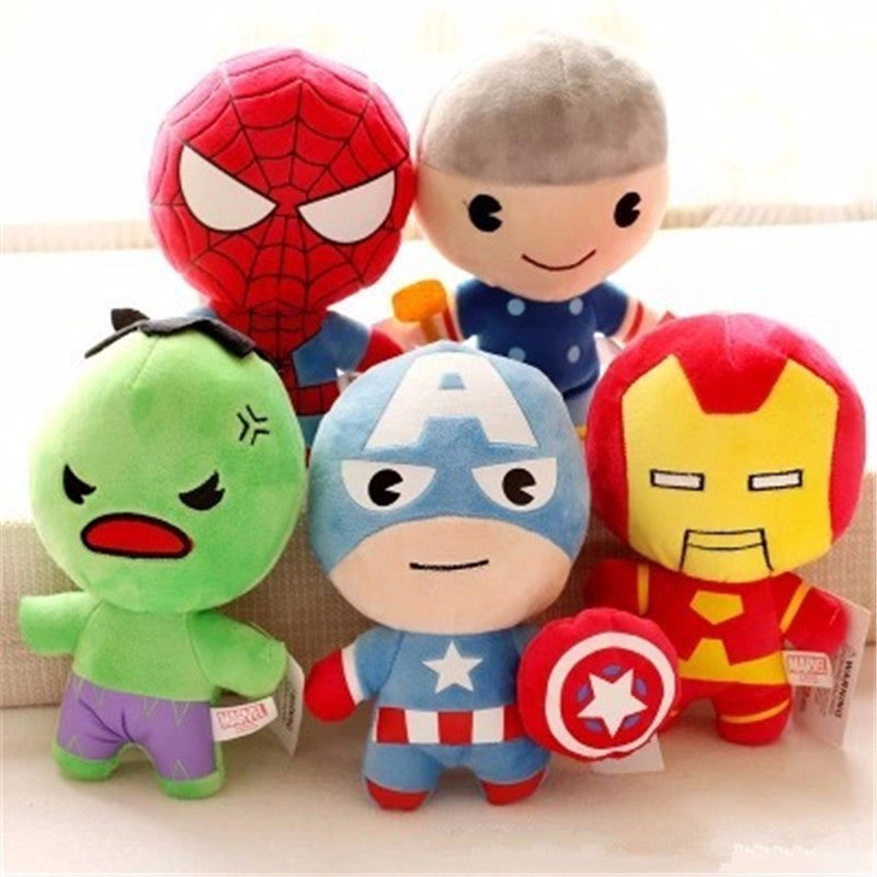 Peluches Avengers Captain America Iron Man Spiderman Hulk Thor style Kawaii Superhero - kidyhome