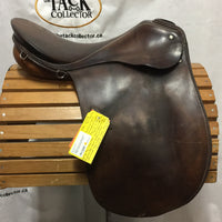 17 Medium Passier Century Dressage Saddle, 2 Billet Guards, Wool Flocked, older