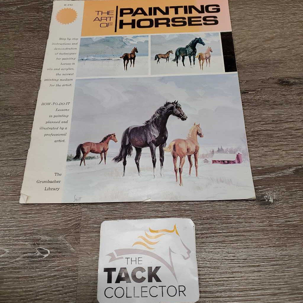 """""""Collector Item"""" The Art of Painting Horses *older, gc, ripping edges"""