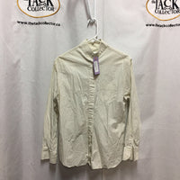 LS Show Shirt, 2 collars, embroidered *older, wrinkled, stains, worn button holes