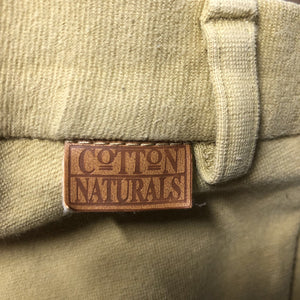 Cotton Breeches *stained, faded seams, older, v.pilly knees, hairy velcro