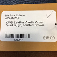 Leather Cantle Cover *marker, gc, scuffed