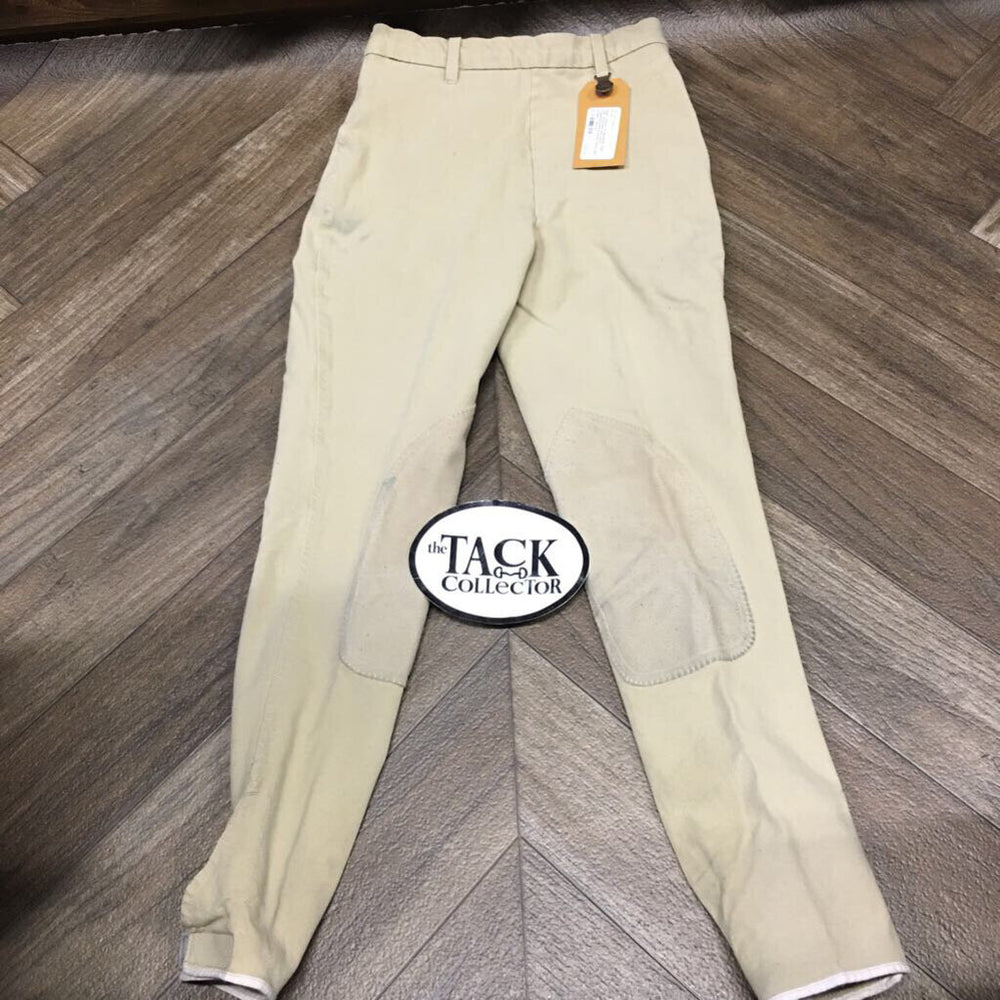 Pr Breeches, Side Zip *stretched seat seam, faded/puckered seams, stains, pilly knees