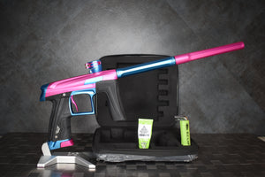 PLANET ECLIPSE GEO CS1 PAINTBALL GUN - PINK/BLUE (Loaders Not INCLUDED)