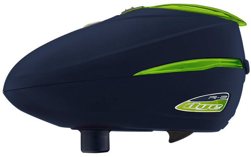 DYE ROTOR R2 PAINTBALL LOADER - NAVY LIME (NEW)